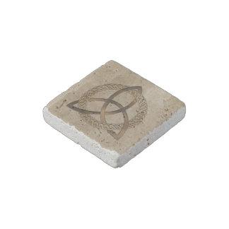 Celtic Triquetra Trinity Knot Stone Magnet