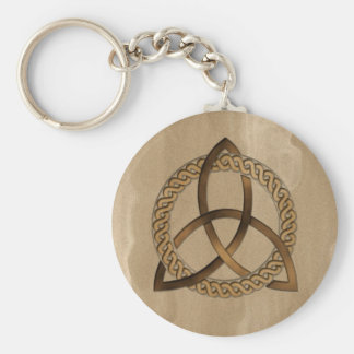 Celtic Triquetra Trinity Knot Round Keychain
