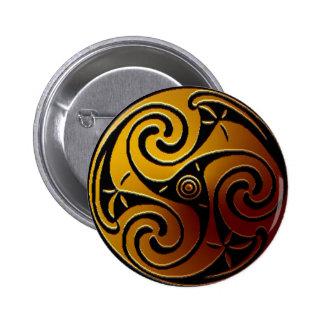 Celtic Triskele Button