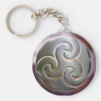 Celtic triskele in silver key ring