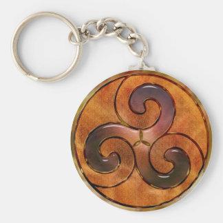 Celtic Triskele Key Ring