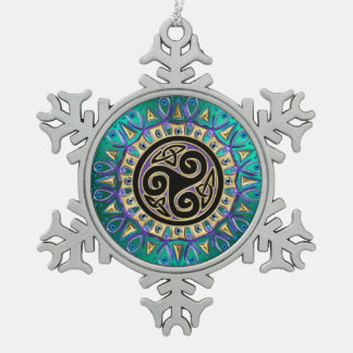 Celtic Triskele Mandala Christmas Ornament