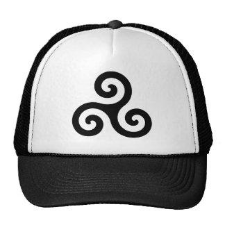 Celtic Triskelion Symbol Hats