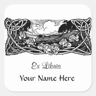 Celtic Vines Landscape Square Sticker