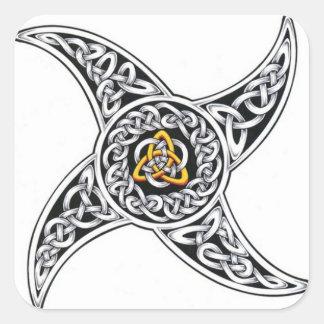 celtic-warriors symbol square sticker