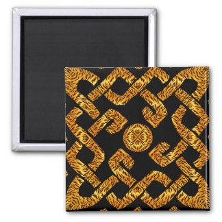 Celtic Weave Tiger Pattern Fridge Magnet