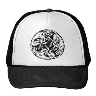 Celtic Wolf  Triskelion Hats