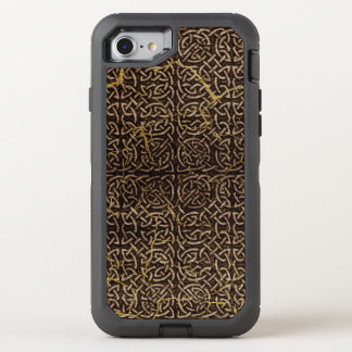 Celtic Wood Pattern with Gold Marble OtterBox Defender iPhone 8/7 Case