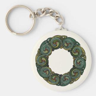 Celtic Wreath Basic Round Button Key Ring