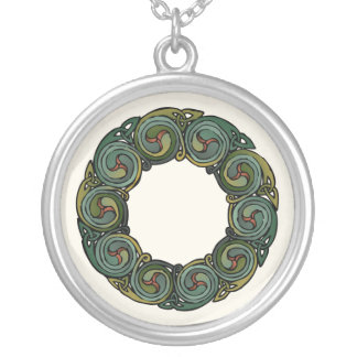 Celtic Wreath Silver Plated Necklace