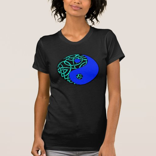 Celtic yin yang teeshirt (Teal and blue) Tee Shirt