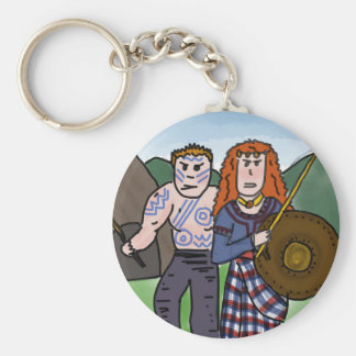 Celts history cartoon keyring