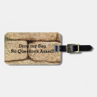 Cement Blocks with Funny Message Luggage Tag