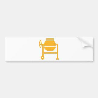 Cement mixer bumper sticker