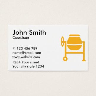 Cement mixer business card