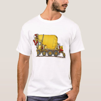 Cement Mixer Front Discharge Truck Construction Ap T-Shirt