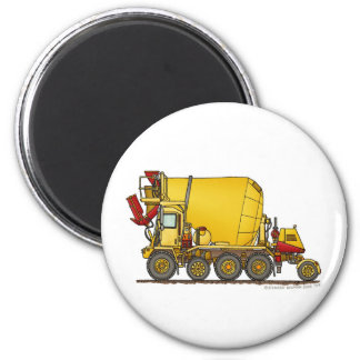 Cement Mixer Front Discharge Truck Construction Ma 6 Cm Round Magnet
