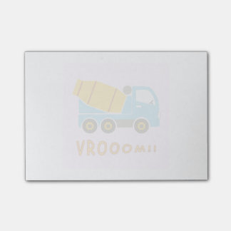 Cement mixer truck post-it notes