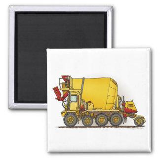 Cement Mixer Truck Square Magnet