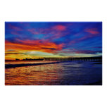 Cement Ship Sunset Poster