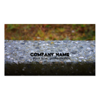 Cement Stone Stonemasons Business Card Business Cards