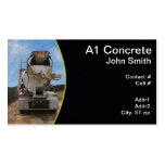 Cement Truck at construction site Business Card Template