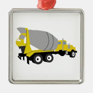 Cement Truck Metal Ornament