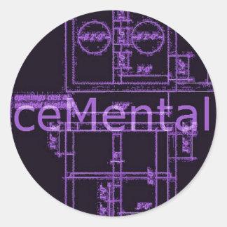 ceMental stick Round Sticker