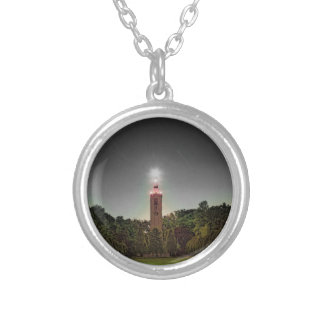 Cemetary Tower Silver Plated Necklace