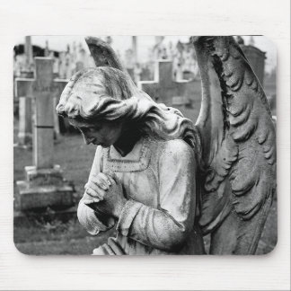 cemetery angel mouse pad