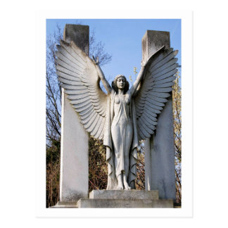 Cemetery Angel Spreading Wings Post Cards
