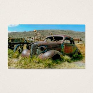 Cemetery car business card