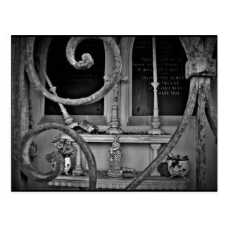 Cemetery crypt altar postcard