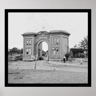Cemetery Gatehouse at Gettysburg 1863 Poster