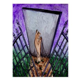 Cemetery Gates Blank Greeting Card Postcard