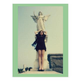 Cemetery Girl Postcard