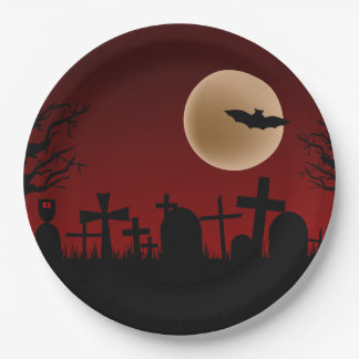 Cemetery Halloween Party Paper Plates