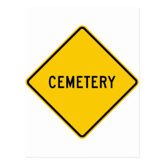 Cemetery Highway Sign Postcards