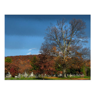 Cemetery in Autumn Postcard