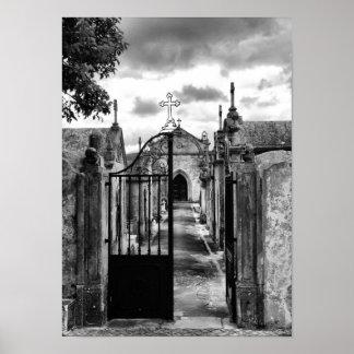 Cemetery of Porto de Mos, Portugal Print