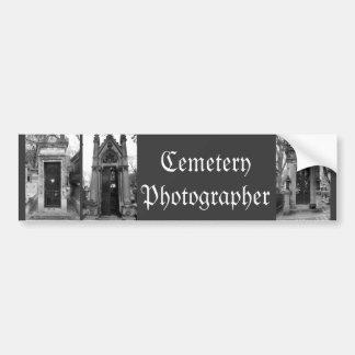 Cemetery Photographer B&W Bumper Sticker