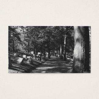 Cemetery Scene Business Card
