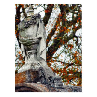 Cemetery Statues Vases Post Card
