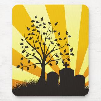 Cemetery Sunburst Mouse Pad