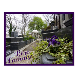 Cemetery View with text Postcard