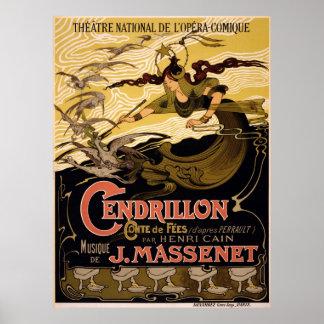 Cendrillon. conte de fées. vintage opera poster