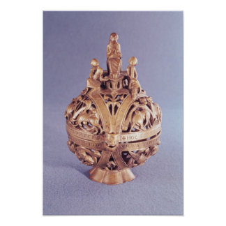 Censer surmounted by an angel posters