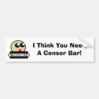 Censor Bumper Sticker