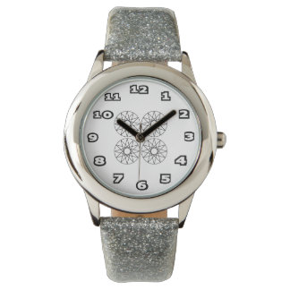 Censored Kid's Silver Glitter Watch