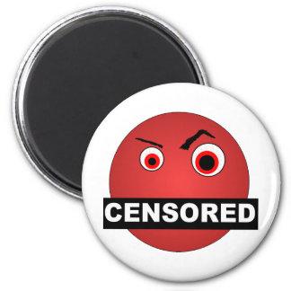 Censored Smiley Magnet